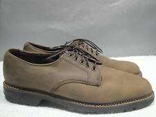 MENS 8.5 M H.S. TRASK USA BROWN NUBUCK LEATHER DRESS CASUAL COMFORT OXFORD