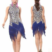 1920s Flapper Dress Clubwear Party Gatsby Sequin Tassel Plus Size Dress 3225 US