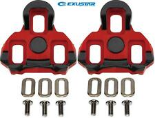 ExuStar Cleat set suit Garmin Vector & LOOK KEO Pedals RED 6-degree Float E-ARC