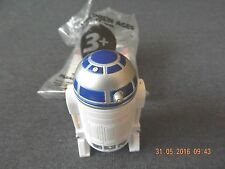 VINTAGE STAR WARS  3'' TALL R2D2 WITH PRINCESS LEIA  INSIDE + HOLOGRAM, NEW.