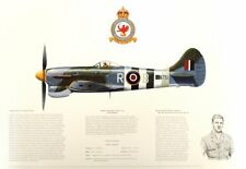 AP20 BEAUTIFUL AVIATION PRINT PICTURE PROFILE OF A HAWKER TEMPEST MKV