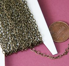 100ft spool Antiqued Brass figure 8 connector chain 2.5X3.1mm