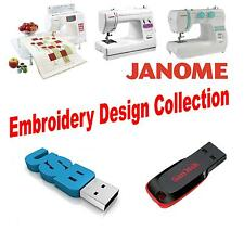 Janome JEF 8GB USB Memory Stick with 150,000 JEF Machine Embroidery Designs 8GB