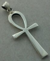 EGYPTIAN ANKH 925 STERLING SILVER PENDANT 3cm ANK FOR NECKLACE