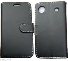 Per SAMSUNG GALAXY I9000 S1 PELLE CASE Wallet CUSTODIA COVER FLIP BACK FIT SKIN