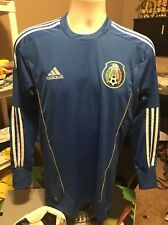 Adidas Mexico Goalie TECHFIT Jersey 2010/11 New Authentic Ships Free RARE
