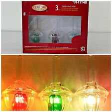 NEW Unused BOXED BUBBLE LIGHTS Replacement BULB Set XMAS TREE COLORED Vtg Retro