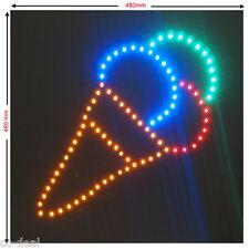 """LED Schild XXL """" EISWAFFEL """" Werbeschild Leuchtreklame Werbung Hinweisschild EIS"""