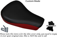 BLACK &DARK RED CUSTOM FITS HARLEY DAVIDSON SPORTSTER 883 48 72 FRONT SEAT COVER