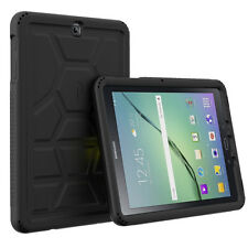 Poetic Turtle Skin Tactile side Grip Case for Samsung Galaxy Tab S2 9.7 Black