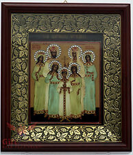 Wooden & basma Orthodox Christian Icon Romanov family Царская Семья Романовых