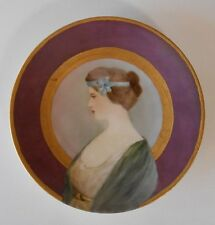 Deco Antique D & Co. Limoges Portrait Plate Handpainted Signed Cin. Art Academy