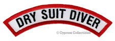 DRY SUIT DIVER CHEVRON - SCUBA DIVING iron-on DIVE PATCH embroidered applique
