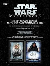 2016 Topps Star Wars Masterworks Sealed Unopened Hobby Case w/ 8 Boxes