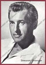 STEWART GRANGER 02b ATTORE ACTOR ACTEUR CINEMA MOVIE Cartolina NON FOTOGRAFICA