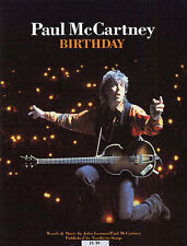 Paul McCartney Birthday Learn to PLAY Pop Piano Guitar PVG SHEET Music Book
