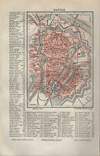 Landkarte city map 1896: Stadtplan: DANZIG. Plan Miasta Gdańsk. Polen Polska