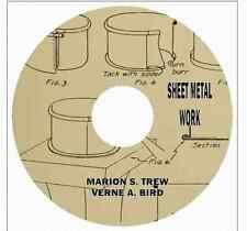 SHEET METAL WORK Marion S. Trew  with Instructions and 22 Projects on CD