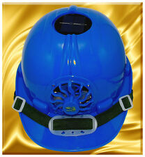 Ultimate Version Solar Cooling Fan Safety Helmet Hard Hat/Cap Blue