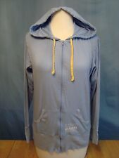 "VICTORIA'S SECRET HOODIE ""LOVE"" LIGHT WEIGHT POWDER BLUE ZIP UP JACKET SMALL EUC"