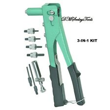 Riv Nut Riveter Kit three different Riveter TOOLS  in 1 new with FREE Shipping