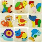 Wooden Blocks Kid Child Cartoon Animal Design Puzzle Game Educational Toy S
