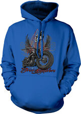 Route 66 Classic Rumblers Motorcycles Choppers Bikers Hoodie Pullover