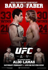 UFC 169 Official Full-Sized Event Poster BARAO VS FABER New Jersey 2/1/2014