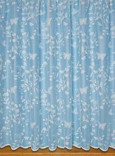 Butterfly Net Curtain ~ Width Sold By The Metre ~ Lace Voile