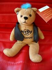 HRC Hard Rock Cafe Singapore Punk Bear Mohawk 2011 Blue Hair Herrington