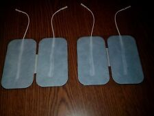 "4 Replacement Pads for Massagers Tens Units Electrodes 2""x3.5"" RECTANGULAR Cloth"