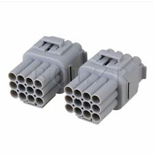 12 Pin Way Waterproof Electrical Wire Connector Plug AWG Terminals Pack of 2