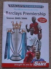 2005/06 Barclays Premiership Booklet Liverpool Man United Arsenal Chelsea Spurs