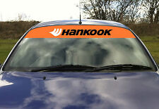 Hankook pneus pneus drift touring voiture pare-soleil visière autocollant sticker orange