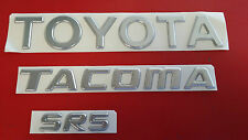 Toyota Tacoma Tailgate Emblems set of 3 fits years (1995-2004)