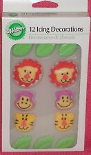 Jungle/Safari Animal Edible Cupcake Toppers,Royal Icing, Wilton, Multi-color