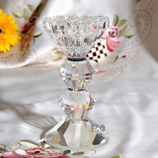 Clear Vintage Crystal Candelabra Candle Holder Centerpieces Candlesticks Small