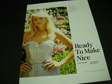 MIRANDA LAMBERT Ready To Make Nice 2014 full page PROMO DISPLAY Piece mint cond.