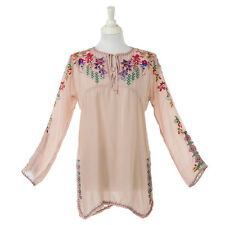 Johnny Was Blush Vanessa Rayon Blouse Size: Extra Large