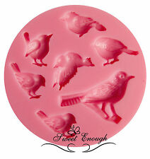 BIRD stampo in silicone per fimo Sugarcraft Decorazioni per Cupcake Decorazione Torta