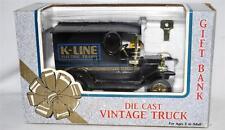 K-line Electric Trains vintage die cast delivery truck bank chrome trim New BOXD