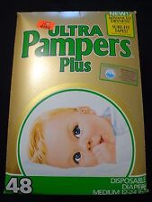 Vintage Adult Baby Plastic Pampers Ultra Plus Diapers abdl 10each! Abdl
