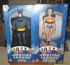 "2003  JUSTICE LEAGUE 10"" BATMAN & WONDERMAN 2 PACK SET=NRFB"