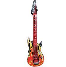 1 x Inflable Rock Guitar Años 60 Años 70 De los años 80 Disfraz 106cm Nuevo
