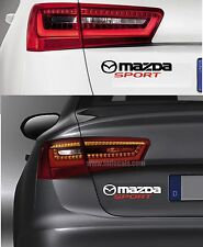 For MAZDA - MAZDA SPORT - CAR DECAL STICKER  Fits 2 3 6 MX-5 RX-8  220mm x 50mm