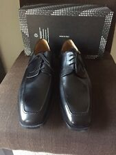 Men's FRATELLI ROSSETTI Black  Leather Lace Oxford Shoes Italy 10.5 Soft Nero