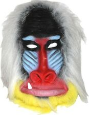 Madagascar Baboon Mask Latex Adult Size Monkey Jungle Ape NEW