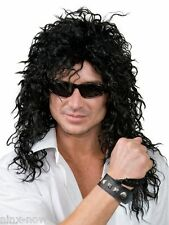 80s Rock Star WIG Bon Jovi Alice Cooper Slash Brian May Kiss Costume Fancy Dress