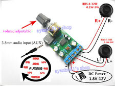 Mini DC 3.7~12V 5V TDA2822M 2.0-CH Stereo Audio Power Amplifier Board 3.5mm AUX