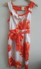 MOULINETTE SOUERS ANTHROPOLOGIE Orange Blossom Empire Waist Dress Size 8 EUC